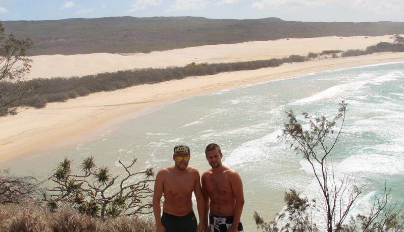 Pedalen i bund på Fraser Island